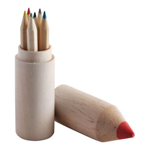 6 lápices de color