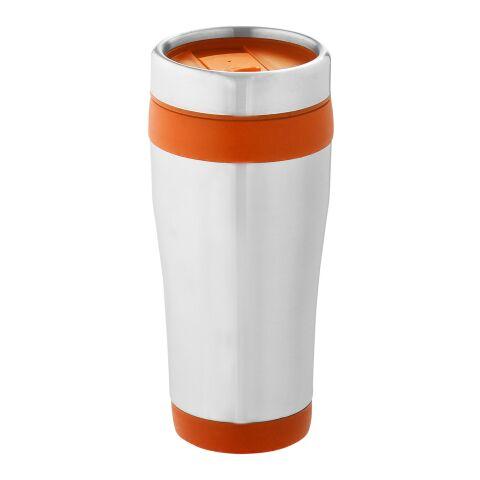 Vaso isotérmico Elwood Estándar | plata-Naranja | sin montaje de publicidad | no disponible | no disponible