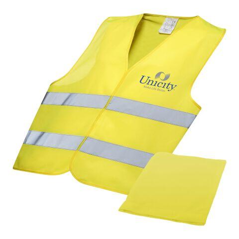 Chaleco reflectante profesional en bolsa Estándar | amarillo neón | sin montaje de publicidad | no disponible | no disponible | no disponible