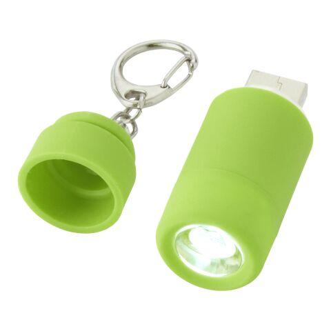 Llavero linterna USB recargable Avior Verde brillante | sin montaje de publicidad | no disponible | no disponible