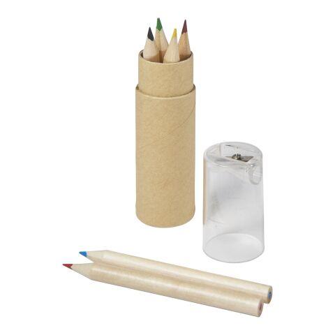 Set de 6 lápices transparente | sin montaje de publicidad | no disponible | no disponible