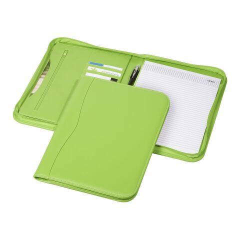 Portafolios A4 con cremallera Ebony Verde Manzana   sin montaje de publicidad   no disponible   no disponible