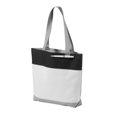 Tote para convenciones Bloomington blanco-bronce negro   sin montaje de publicidad   no disponible   no disponible   no disponible
