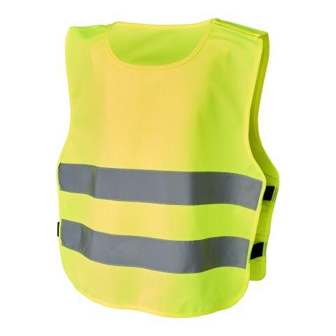 """Chaleco de seguridad con velcro para niños de 7 a 12 años """"Marie"""" amarillo neón   sin montaje de publicidad   no disponible   no disponible   no disponible"""