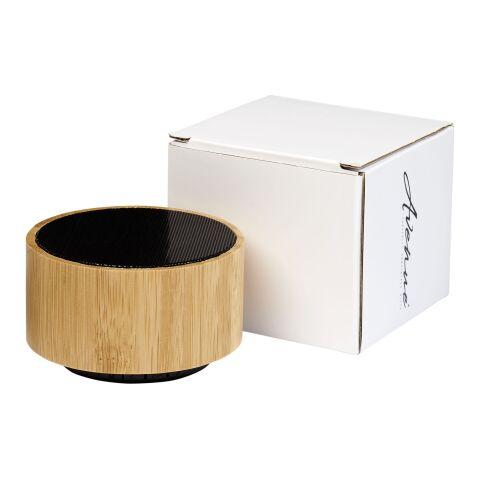 """Altavoz Bluetooth® de bambú """"Cosmos"""" Madera-bronce negro   sin montaje de publicidad   no disponible   no disponible"""