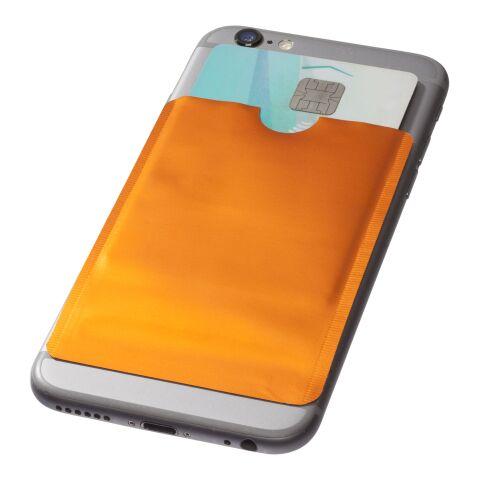 Portatarjetas para smartphone con protección RFID Naranja | sin montaje de publicidad | no disponible | no disponible
