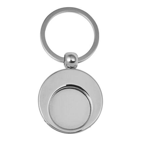 Llavero metálico con moneda para el carro de la compra. plata | sin montaje de publicidad | no disponible | no disponible