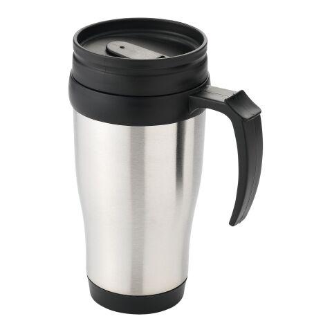 Taza aislante Sanibel plata-negro intenso | sin montaje de publicidad | no disponible | no disponible