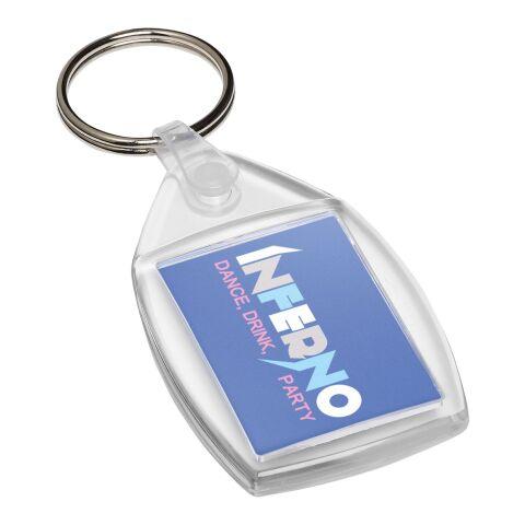 Llavero de plástico Lita con clip de plástico
