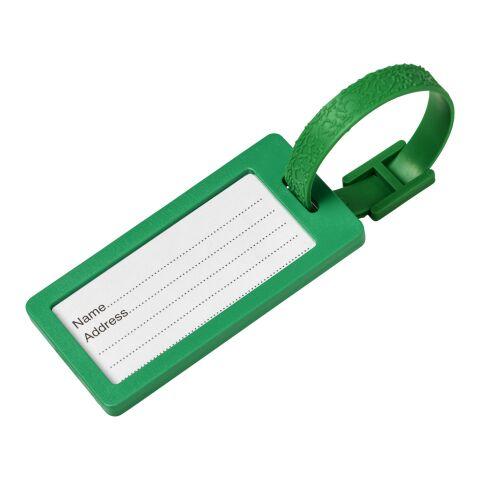 Etiqueta para equipaje con ventana River Verde | sin montaje de publicidad | no disponible | no disponible
