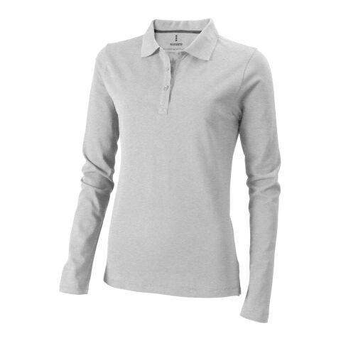 Oakville Damen-Polo, langärmlig Mezcla de grises | XS | Impresión por transferencia digital | impacto - espalda arriba | 280 mm x 230 mm | 25