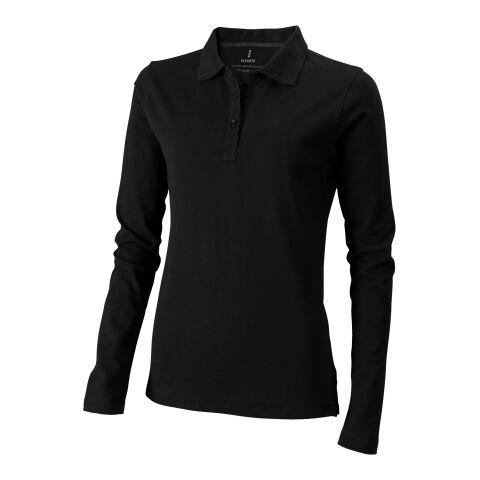 Oakville Damen Langarm Poloshirt bronce negro | XS | sin montaje de publicidad | no disponible | no disponible | no disponible