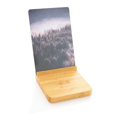 Cargador inalámbrico Bamboo 5W con marco de fotos