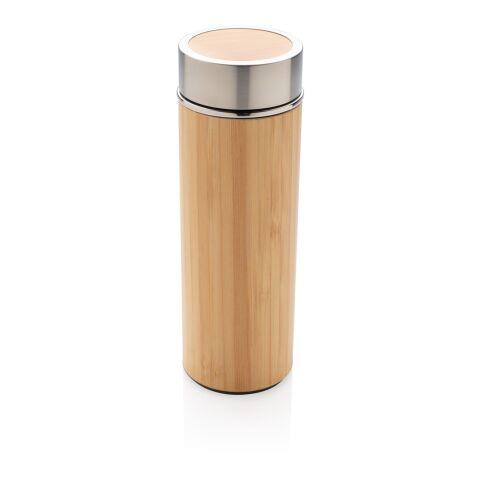 Botella al vacío anti goteo de bambú