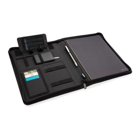 Portafolio de carga inalámbrica Air 5W RPET A4 negro   sin montaje de publicidad   no disponible   no disponible