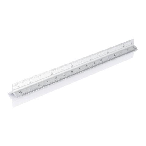 Regla triangular de aluminio, 30cm