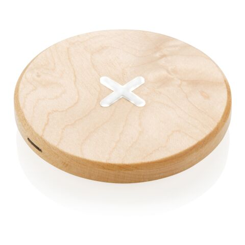 Cargador inalámbrico de madera de 5W marron | sin montaje de publicidad | no disponible | no disponible