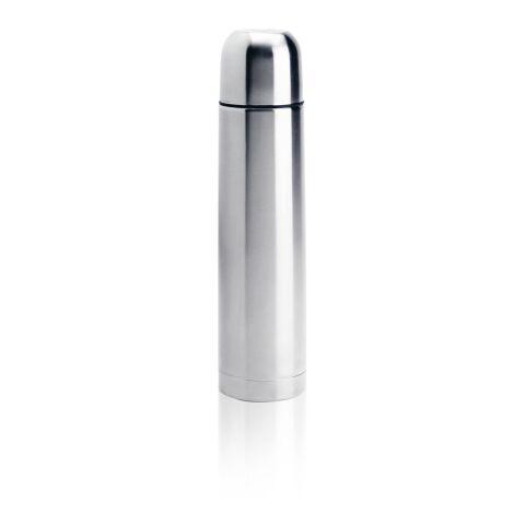 Termo de acero inoxidable plata | Tampografía 1 color | parte frontal y alta del artículo | 35 mm x 80 mm | no disponible