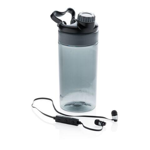 Botella antigoteo con auriculares inalámbricos