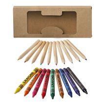 Set de 19 lápices y ceras